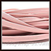 Шнур шкіряний 10*3 мм, колір рожевий (20 см)