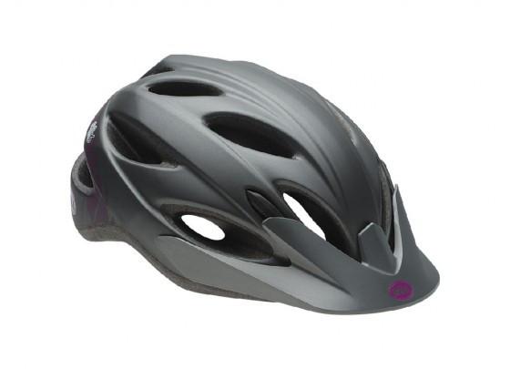 Велошлем женский Bell Strut матовый/титановый/фиолетовый Slant, Uni (50-57) (GT)