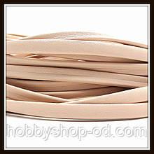 Шнур шкіряний 10*3 мм, колір блідо-рожевий (20 см)