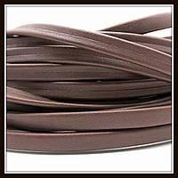 Шнур кожаный 10*3 мм, цвет шоколданый