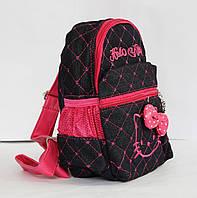 Рюкзачок для девочки черный с розовым Hello Kitty.