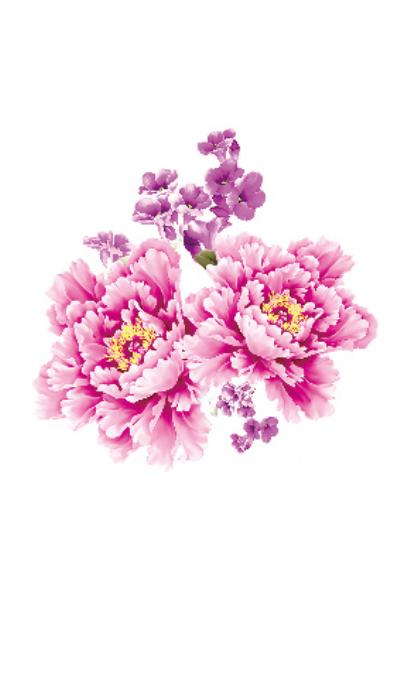 Био тату Peony Flowers