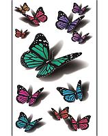 Временная татуировка «Бабочки с тенью» 3D