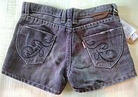 Шорты детские джинсовые для девочки, серые