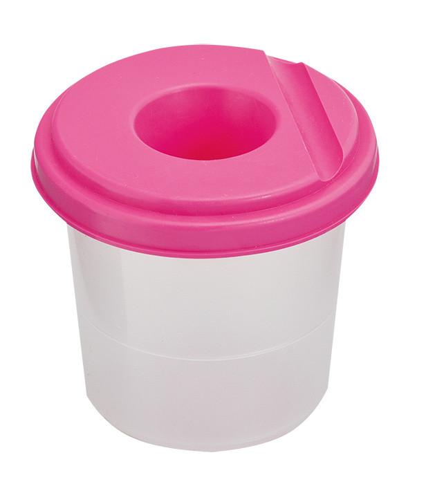 Стакан-непроливайка розовый