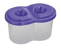 Стакан-непроливайка двойной фиолетовый