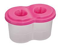 Стакан-непроливайка двойной розовый