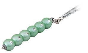 Ручка кулькова Secret з кристалами зелений у подарунковому футлярі