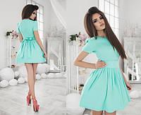 """Элегантное летнее короткое платье 1050 """"Мемори Клёш"""" в расцветках"""