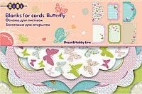 Заготовка для открыток ''Butterfly'' 10.2x15.3см