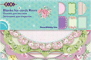 Заготовка ZiBi для открыток Roses 10.2x15.3см ZB.18202-AF