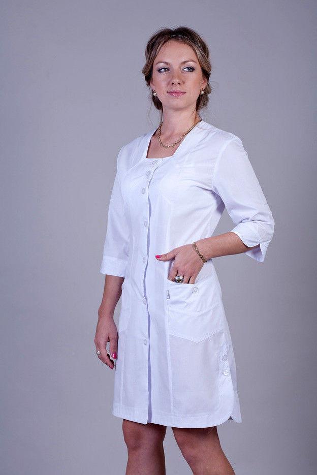 Медичний халат батист ХелсЛайф 40-66р