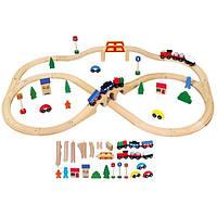 Железная дорога Viga Toys деревянная 56304