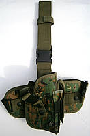 Кобура набедренная Leapers UTG для средних и больших пистолетов с чехлом для магазина