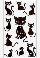 Переводное тату «Черная кошка»