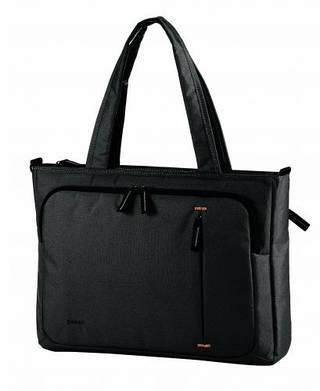 """Женская сумка для ноутбука 39*29.5*7 см. 17"""" с удлиненными ручками CABINET O97276 черный"""