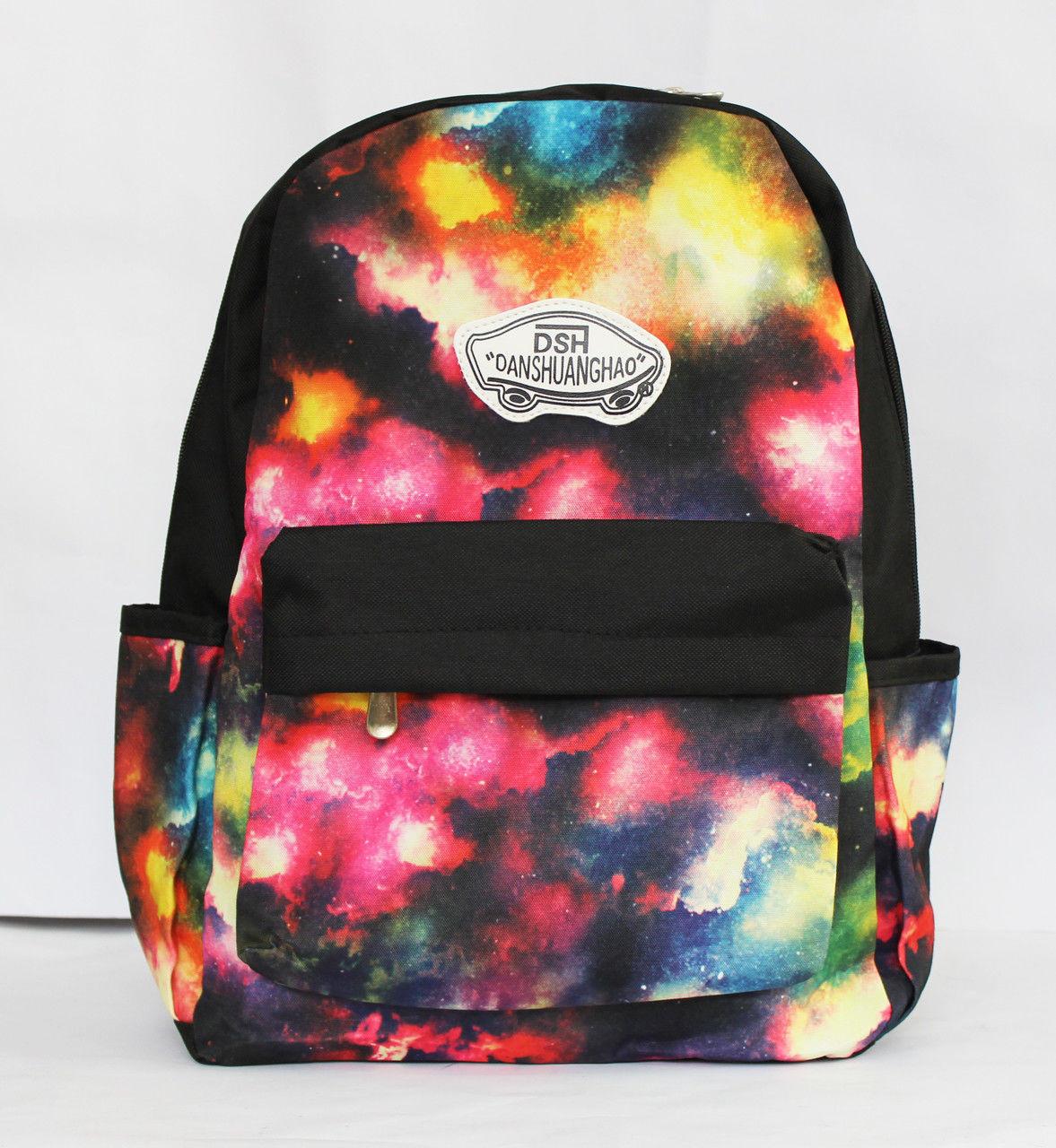 """Молодіжний рюкзак з оригінальним принтом """"космос"""""""