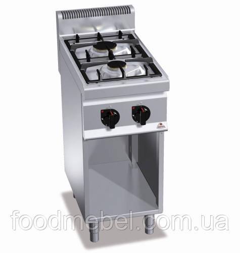 Плита газовая Bertos G7F2ME без духовки двухконфорочная