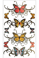 Переводное тату «Бабочка» 4 цвета