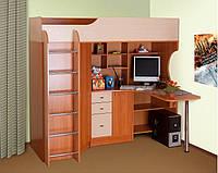 Кровать чердак с компьютерным столом