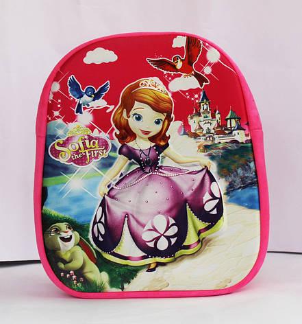 Розовый рюкзачок для девочки Принцесса София, фото 2