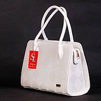 Белая дамская сумочка женская шахматная текстура