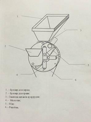 Зернодробилка-траворезка ФЕРМЕР Д-3 2,5 кВт, фото 2