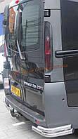 Защита заднего бампера уголки двойные D70-42 на Opel Vivaro 2002-2014