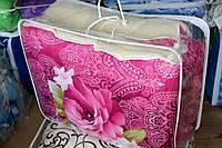 Одеяло полуторное из овечьей шерсти Лери Макс розовое