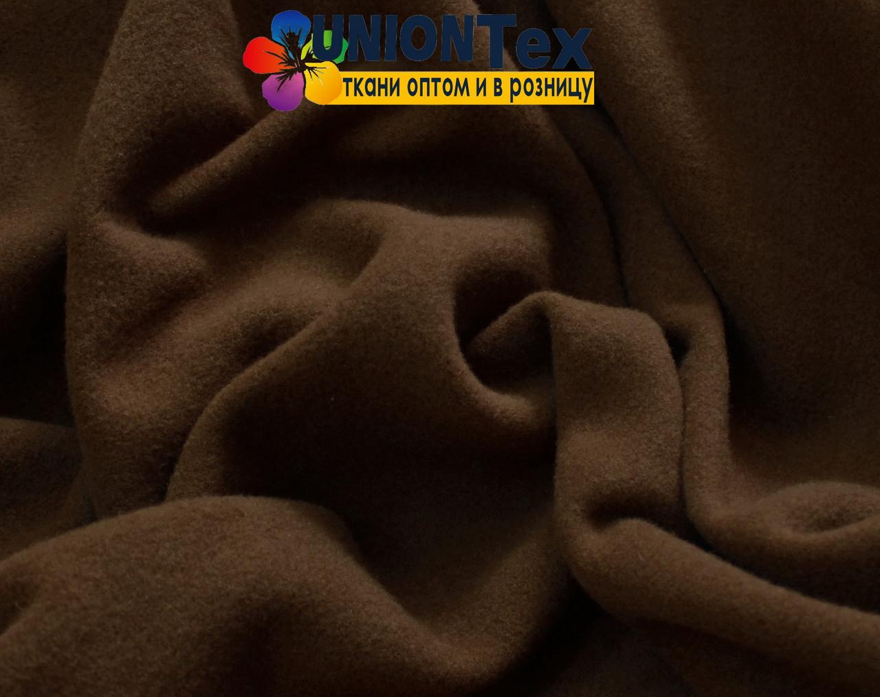 Кашемир стрейчевый коричневый (Турция, 570 GSM)