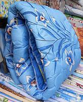 Полуторное одеяло из овечьей шерсти Лери Макс - голубого окраса