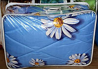 Полуторное одеяло из овечьей шерсти Лери Макс - белые ромашки