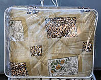 Полуторное одеяло из овечьей шерсти Лери Макс леопардовая абстракция