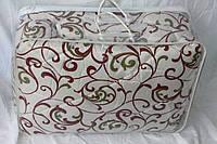 Теплое двуспальное одеяло из овечьей шерсти Лери Макс - вензеля