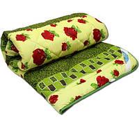 """Двуспальное одеяло из овечьей шерсти """"Лери Макс"""" красные розочки"""