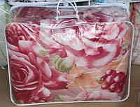 Одеяло из овечьей шерсти Евро размер Лери Макс - большие цветы