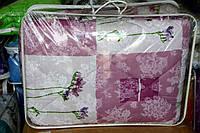 Ковдра полуторна з овечої вовни Лері Макс Gold абстракція рожева