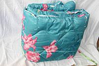 Полуторное одеяло Лери Макс наполнитель двойной силикон - розовые цветы