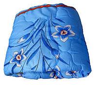 Полуторное одеяло Лери Макс наполнитель двойной силикон синий цвет