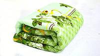 Двуспальное одеяло Лери Макс наполнитель двойной силикон - салатовый окрас