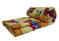 Двуспальное одеяло Лери Макс наполнитель двойной силикон коричневая абстракция