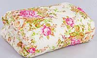 Двуспальное одеяло Лери Макс наполнитель двойной силикон бежевые цветы