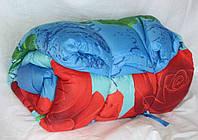 Двуспальное одеяло Лери Макс наполнитель двойной силикон - цветы на синим