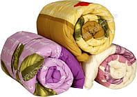 Двуспальное теплое одеяло Лери Макс наполнитель двойной силикон - разные расцветки
