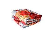 Двуспальное одеяло Лери Макс наполнитель двойной силикон красные цветы