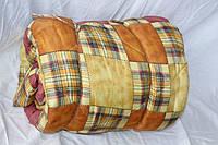 Двуспальное одеяло Лери Макс наполнитель двойной силикон - коричневая абстракция