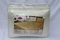 Покрывало с подушками на кровать ТЕП двуспальный размер - молочный окрас
