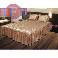 Покрывало с подушками на кровать ТЕП двуспальное - беж