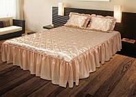 Покрывало с подушками на кровать ТЕП двуспальный размер - бежевое