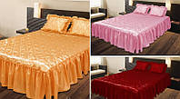 Покрывало с подушками на кровать ТЕП двуспальный размер - разные окрасы